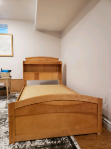 Bed frame for twin mattress bed