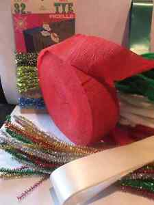 RIBBON CREPE , TINSEL , CHENILLE TRIM, EASTER / CHRISTMAS London Ontario image 2