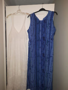 2 Summer Dresses (long) Mint condition - Price is for both