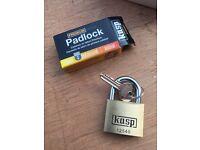 Padlock, Brass, 40mm, Keyed alike box of 12 BRAND NEW (not tool shed garage lock security)