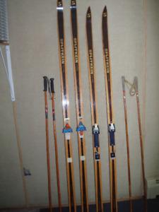 Norwegian wood cross country skis