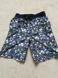 Boys Age 9-10yrs Skeleton Shorts