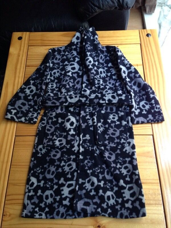 Skull and bone dressing gown age 7/8. | in Guildford, Surrey | Gumtree