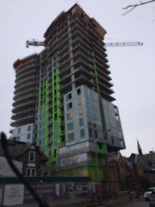 High rise exterior wall installers