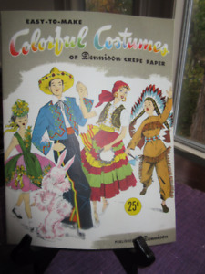Vintage Easy to make Colorful Costumes from Dennison Crepe Paper