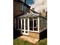 Beautiful conservatory with expensive blind & already dismantled