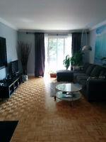 Grand condo 1100pc meublé à louer pour un an sur 2 étages Anjou
