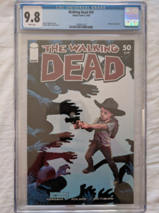 Walking Dead #50A CGC 9.8 White Pages.  Highest Graded!