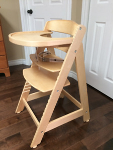 adjustable wooden high chair