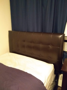 Headboard, frame and box spring (Double bed)