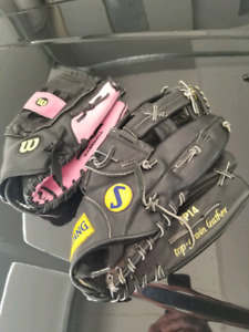 His and Hers ball gloves