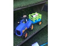 Early learning centre light and sounds tractor and trailer
