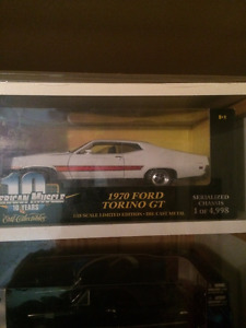 1:18 Scale Diecast Cars - New In Box With Straps Still Attached