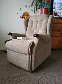 Sherbourne electric rise and recline chair with dual motor, can be de