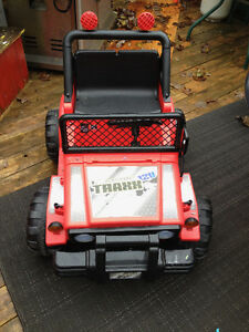 Sit in electric toy Jeep
