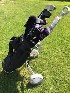 Sac de golf, fer, balles et +