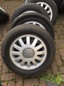 Audi VW Skoda Alloy/Tyre set x4