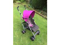 Mamas and Papas Pushchair in Purple and Black