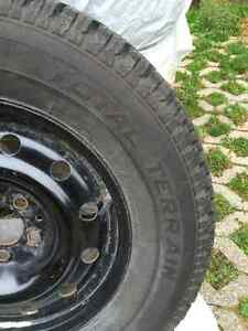 WINTER TIRES MotoMaster Total Terrain 235/70R16 on Steel Rims Cambridge Kitchener Area image 3