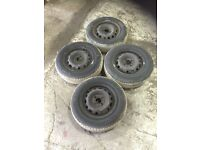 Vauxhall corsa steal wheels and tyres 155/80R 13