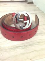 Red Authentic Gucci Belt