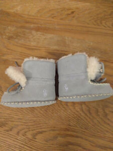 Ralph Lauren Baby's Blue Suede Shoes (winter booties, 3 months)