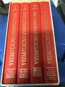 THE CANADIAN ENCYCLOPEDIA 4 VOLUME BOXED SET ABOUT CANADA ONLY