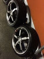 ^^** HD KMC POISON SERIES RIMS ON LIKE NEW BF GOODRICH TIRE!!