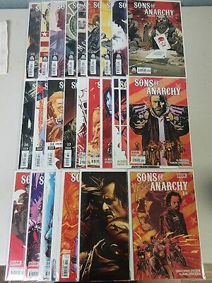 Sons Of Anarchy 1 25 Complete Full Run 1St Prints