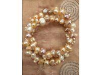 Real pearl swirly bracelet