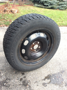 Snow Tires with rims (from a VW Golf)