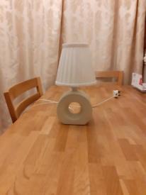 Cream ceramic base lamp
