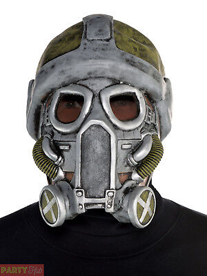 Adults Apocalypse Latex Gas Mask Teens Halloween Fancy Dress Costume Accessory