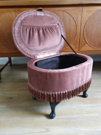 Vintage sherborne sewing box stool