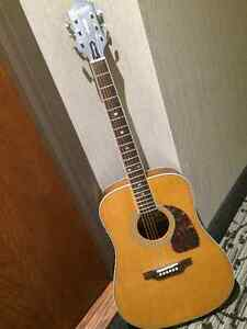 All solid tone woods acoustic guitar with pickups