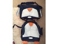 2 kids samsonite Sammies luggage bags with wheels and shoulder bag penguin toddler small child bags