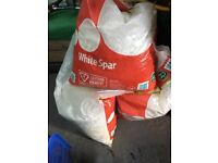 3 bags of white spar decorative gravel