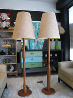 Pair of Mid Century Modern Sculptural Teak Floor Lamps