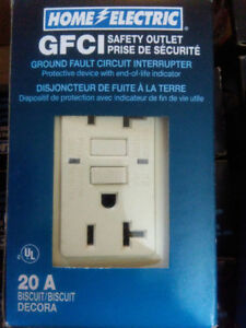 GFCI Safety outlet ground fault circuit 15A & 20A or $120 for 14