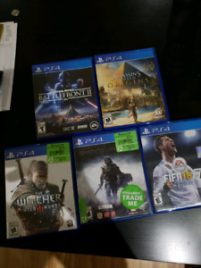 5 ps4 games who's the lucky one