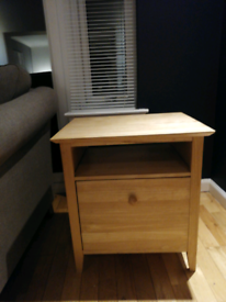 Side unit, real wood cabinet