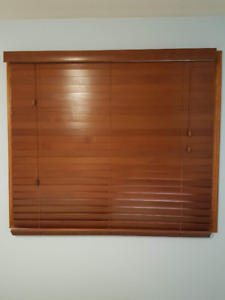 Three sets of Premium Faux Wood Blinds