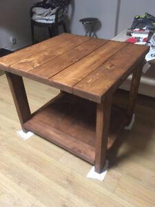 BRAND NEW Handmade Wood End Table