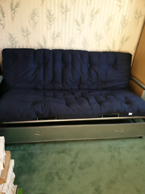 Bed for folding in spare room futon type