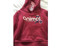 Animal hoody 3-4