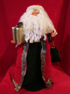 Old Father Time Santa Clause Christmas Decorative Figure