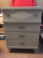Vintage refinished dresser and nightstand