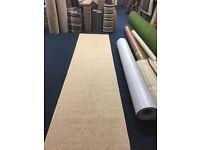 100%wool hallway runner whipped carpet 362cm x 80cm