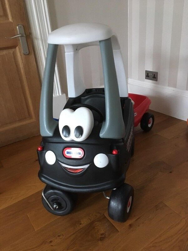 Little tikes cozy coupe police car with trailer