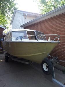 Alum. boat 85hp/9.9hp